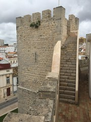 Loule Castle - Algarve Portugal (firehouse.ie) Tags: urban town premises stone medieaval history historic tower keep buildings building architecture algarve portugal loule castles castle
