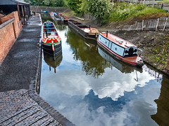 Black Country Museum, Dudley.  19 May 2015 (ricsrailpics) Tags: uk reflections boats canal explore dudley westmidlands 2015 blackcountrymuseum
