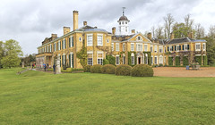 View on Polesdon Lacey, Great Bookham, Surrey, UK (dorrisd) Tags: greatbritain house home wet sussex estate view unitedkingdom rainy mansion society nationaltrust wisteria countryhouse polesdenlacey mrsgreville