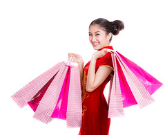 Chinese girl with qipao and shopping bag (anekphoto) Tags: china new red woman money smile face festival shop shopping bag relax asian thailand happy spring asia shanghai market sale expression background space year rich chinese young culture taiwan newyear hong kong business gift thai envelope buy prize copyspace tradition eastern celebrate currency isolated wealth qipao finance chipao cheongsam 2017