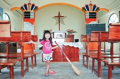 I'm a Super Cleaner ( aikawake) Tags: wood house love church smile table happy kid chair child christ cross jesus christian littlegirl cleaner sweep ricohgr scavenger       naturelight littlechild