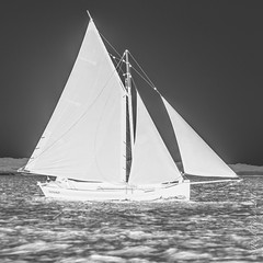 Galway Hooker, Hanorah (JPaulTierney) Tags: 2016 7dmkii canon connemara galway july hooker boat sail ocean water sailing negative galwayhooker hanorah ireland west