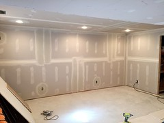 Basement Remodel (devinaodom) Tags: photostream drywall carpentry doors trim flooring electrical carpet painting construction remodeling interiordesign audiovisual homeimprovements thehomedepot lowes