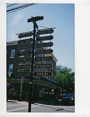 signage (BehindBlueEyes) Tags: newjersey nj hightstown mercercounty film fujiinstax210 instantnj traskavenue
