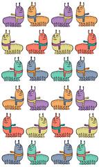 Sweet caterpillar (Neta Manor) Tags: illustration netamanor sweet caterpillar pattern bug extraordinary fluffy childrenart children kids cute wallpaper repeat cartoon pen animal animals color colorful happy millipede