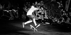 Kickflip (Sean Batten) Tags: london england unitedkingdom gb kickflip nikon df 60mm blackandwhite bw streetphotography street city urban southbank skateboard trick