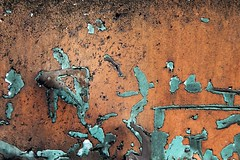 Sens cach (Gerard Hermand) Tags: 1607162795 gerardhermand france samons canon eos5dmarkii formatpaysage metal peinture paint orange bleu blue abstrait abstract abstraction