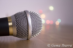 Round microphone silver and gold (GemaIbarra1) Tags: music white black classic closeup silver studio gold media shiny technology shot metallic background object space nobody communication equipment single broadcasting sound microphone mic audio recording isolated holder