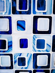 Tiles (Thad Zajdowicz) Tags: tiles geometric abstract color blue bright pattern texture zajdowicz southpasadena california closeup cellphone photoshopexpress indoor inside creativecommons