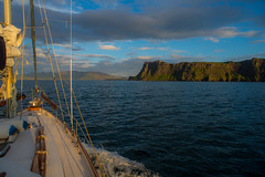 Landfall in the Small Isles..... (Dafydd Penguin) Tags: sailboat sailing sail boat vessel yacht yachting cruising coasting coastal coast canna small isles west scotland evening light hebridean sea water nikon d600 nikkor 20mm af f28d