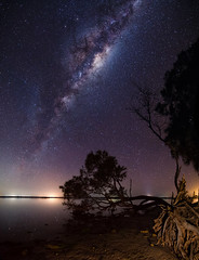Milky Way - Collins Pool - Mandurah, Western Australia (inefekt69) Tags: panorama ice pool night rural way stars point island photography nikon long exposure outdoor mosaic space great australia tokina southern galaxy astrophotography astronomy dslr collins milky 11mm stitched cosmos westernaustralia core cosmology mandurah milkyway southernhemisphere rift 1116mm d5100