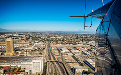 20160721 DTLA Aerial -18 (Tony Castle) Tags: aerial photography helicopter heli canon 5diii sony a7rii mirrorless sigma mc11 converter sky city la dtla los angeles traffic