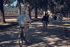 Sunday stroll (zia virgi) Tags: 2016 lucca viaggio mura cycling