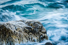 Rock Steady (oreonphotography) Tags: ocean water motion rock slowshutterspeed movement blue elements california socal