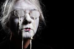 Spilt Milk (Apionid) Tags: white face selfportrait pissedoff blackbackground nikond7000 werehere hereios 366the2016edition 3662016 day216366 3aug16