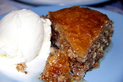Baklava (andy michael2012) Tags: kefalonia greece island hot cake ice cream baklava meze syrup sugar