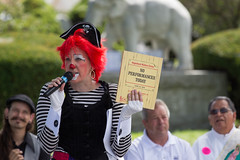no performances today (timp37) Tags: book no performances today illinois august 2016 showmens rest clown forest park woodlawn cemetary pirate