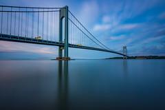 Alternate (Amar Raavi) Tags: verrazanonarrowsbridge verrazanobridge thenarrows bridge brooklyn statenisland newyorkcity nyc ny newyork unitedstates usa dawn sunrise longexposure giovannidaverrazzano suspensionbridge longest water fortwadsworth