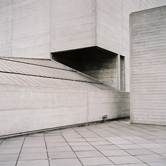 National Theatre (jubalharshaw) Tags: national theatre southbank london thames brutalist modernist architecture minimalist rolleiflex 35f fuji pro 400h colour film 120 medium format scan frontier
