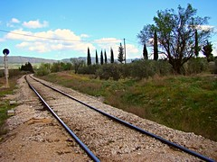 Railway Greece (anastasia_ania) Tags: railway national greece campagne nature tree trees flowers road trip excursion backtonature