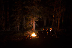 Comfort in Fire I (s_jenkV2) Tags: mission mountains mountain range montana swan seeley valley approach piper basin lakes ducharne summer season 2016 backpack trip hiking explore adventure forest nature wild wilderness huckleberry bush camp camping fire campfire canon 70d