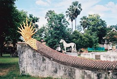 000041 (lonely radio) Tags: film horses kodakektar100 leicam6 leicasummicronm35mmf2type1 nan rangefinder statues temples thailand trees