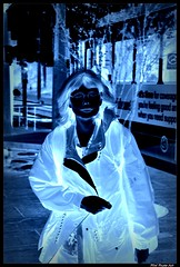 Night Vision (swong95765) Tags: vision night ghostly woman train dark female