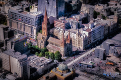 Flinders Street (Dennis Herzog) Tags: australia urban buildings church chruches cilties melbaourne oceania travel