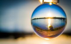 _MG_0373-2 (AdamFejes) Tags: glass globe glassglobe pointofview light sun summer blackandwhite bw colour city budapest danube sunset