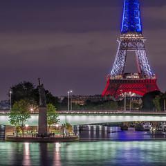 French touch (2) (aurlien.leroch) Tags: europe france paris eiffeltower toureiffel attentats attacks bleublancrouge seine longexposure nikon d7100