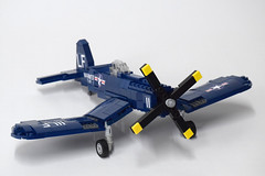 Vought F4U4 Corsair (1) (Dornbi) Tags: lego aircraft wwii vought f4u f4u4 corsair navy marines us naval