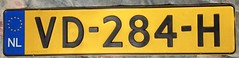 NETHERLANDS CODE 9 2006---LIGHT COMMERCIAL VEHICLE LICENSE PLATE  XX-000-X FORMAT (woody1778a) Tags: netherlands holland licenseplate registrationplate numberplate mycollection myhobby alpca collection europe europa