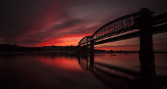 Red Sky at Night.. (yadrad) Tags: sunset southwest cornwall plymouth redsky tamar isambardkingdombrunel saltash redskies royalalbertbridge rivertamar brunelbridge thewestcountry rnbtamar