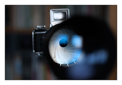 19 bokehlicious blades (leo.roos) Tags: reflection glass lens bokeh gear cameras challenge glas blades lenses weerspiegeling dyxum darosa exaktavarex a7s minolta1002 leoroos aprilfoolishness2015 meyerorestegor50056