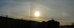 Sun dogs fire on the horizon (beqi) Tags: panorama cloud weather edinburgh sundog photoshoppery braidhill 2015