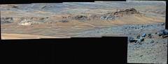 Light-Colored Material 1B (sjrankin) Tags: panorama mars sand rocks edited nasa dust curiosity msl sanddrifts galecrater 17april2015