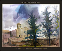 CASTELLFOLLIT DEL BOIX-PINTURA-ACUARELAS-PAISAJES--CATALUNYA-ERMITA-ARTISTA-PINTOR-ERNEST DESCALS (Ernest Descals) Tags: pictures barcelona paisajes art watercolor painting artwork paint artist arboles village arte pueblo paintings iglesia paisaje catalonia fotos painter watercolour catalunya acuarela watercolors hermitage painters pueblos catalua pintura pintores pintar ermita artistes pinturas artista aquarella paisatge paisatges acuarelas pintando catalans esglesia abetos cipreses pobles ors ermitas catalanes simplicidad watercolorist pintors aquarelles acuarelistas lugaressagrados castellfollitdelboix ernestdescals aquarellistes