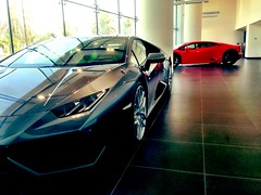 At The Lamborghini showroom, Abu Dhabi!