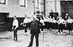 Ballet master and his students (sundogrr) Tags: ballet men history fashion studio dance student europe dancing teacher master slippers instruction 1916 danseur ballerino