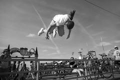 Coney Island (James Prochnik Photography) Tags: nyc blackandwhite bw brooklyn coneyisland streetshots streetphotography levitation falling flip streetphoto flips streetphotos streetshot blackandwhitestreetphotography brooklynstreetphotography brooklyninblackandwhite brooklynbw brooklynblackandwhite brooklynstreetphotos brooklynstreetphoto brooklynstreetshot