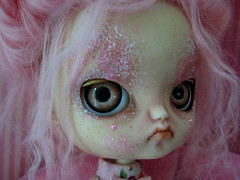 Should I start over? (Pink Anemone) Tags: pink doll god dal more oh much too pinocchio repaint prettydreadfulcustombypinkanemone
