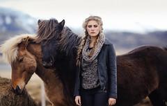 The girl with the horses (David Olkarny Photography) Tags: davidolkarny olkarny horse iceland camillerochette camille sweetlemon fashion