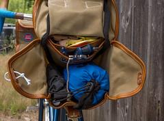 Saddle Bag by Waxwing Bag Co. (koperajoe) Tags: leather bike bicycles canvas bags velo randonneur