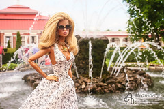 Peterhof (astramaore) Tags: summer public fountain sunglasses toy toys photography necklace doll tan petersburg going blonde 16 sunkissed tanned eugenia peterhof integrity astramaore