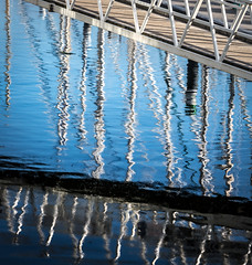 207/366 - Harbour Refelctions - 366 Project 2 - 2016 (dorsetpeach) Tags: weymouthharbour weymouth harbour dorset sea blue refledction 366project aphotoadayforayear 365 366 2016 second365project