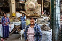 Shopping - Monywa, Myanmar (Maciej Dakowicz) Tags: asia myanmar burma monywa market portrait woman hat street dailylife shopping