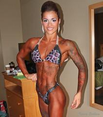 Figure girl, Lana Larouche (KaseyEriksen) Tags: woman girl beautiful beauty tattoo vancouver muscle competition tattoos bikini figure proam bcabba lanabananafitness