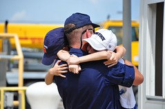 Coast Guard Cutter Vigorous returns home (Coast Guard News) Tags: family hugs vigorous homecoming virginiabeach wmec virginia unitedstates us