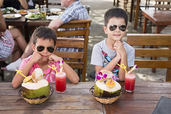 XOKA6262bs (forum.linvoyage.com) Tags: ice cream baby child boy beach flag nature landscape phuket thailand summer girl          naiharn    outdoor people cocktail coconut restaurant cafe bar glasses sunglasses        juice rayban   brother