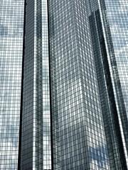 business district #2, Frankfurt (stromlinienbaby) Tags: windows reflection building glass vertical facade skyscraper concrete frankfurt bank business deutschebank businessdistrict